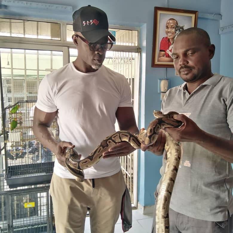 Djimon Hounsou visits